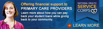 NHSC HRSA Offering Financial Support to Primary Care Providers